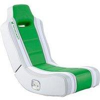 Product photograph showing X Rocker Hydra 2 0 Floor Rocker Gaming Chair - Green