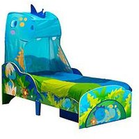image-Worlds Apart Dinosaur Toddler Bed With Canopy And Storage