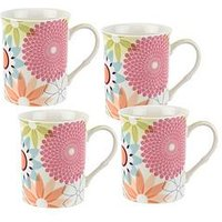 Product photograph showing Portmeirion Crazy Daisy Set Of 4 Mugs