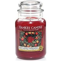 Product photograph showing Yankee Candle Large Jar Candle Ndash Red Apple Wreath