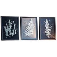Product photograph showing Gallery Gold Ferns Framed Wall Art Ndash Set Of 3
