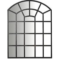 Product photograph showing Black Window Mirror