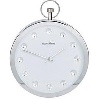 Product photograph showing Stop Watch Style Crystal Wall Clock