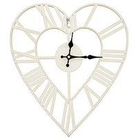 Product photograph showing Metal Heart Shape Wall Clock