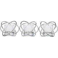Product photograph showing Metal Knot Style Triple Tea Light Holder
