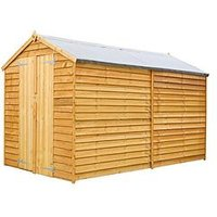 Product photograph showing Mercia 10 X 6ft Overlap Apex Windowless Shed