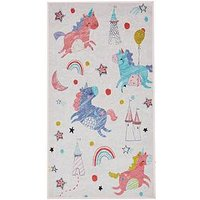 Product photograph showing Crushed Velvet Unicorn Rug