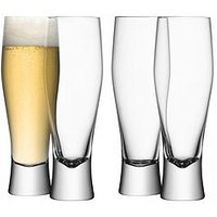 Product photograph showing Lsa International Bar Lager Glasses Ndash Set Of 4