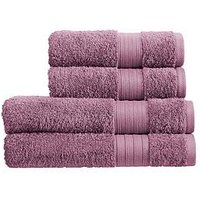 Product photograph showing Christy Monaco 4-piece Towel Bale Ndash Amethyst