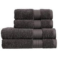 Product photograph showing Christy Monaco 4-piece Towel Bale Ndash Charcoal