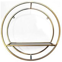 Product photograph showing Arthouse Circular Gold Shelf