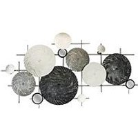 Product photograph showing Arthouse Circles Metal Wall Art