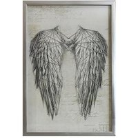 Product photograph showing Arthouse Angel Wings Silver Metallic String Art Framed Print