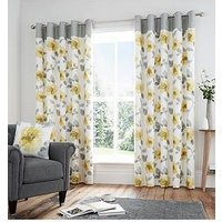 Product photograph showing Adriana Lined 100 Cotton Eyelet Curtains