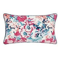 image-Joules Cottage Garden Border Stripe 100% Cotton Cushion