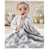Product photograph showing Clair De Lune Clair De Lune Eli The Elephant Reversible Blanket