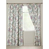 Product photograph showing Dragonfly Pleated Lined Curtains