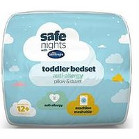Product photograph showing Silentnight Silentnight 4 5 Tog Toddler Cot Quilt Pillow Set