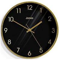 Product photograph showing Jones Clocks Fame Brass Reverse Dial Wall Clock