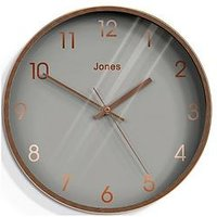 Product photograph showing Jones Clocks Fame Copper Wall Clock