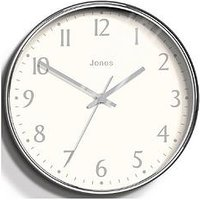 Product photograph showing Jones Clocks Penny Chrome Wall Clock