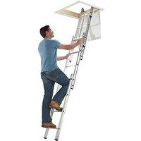 Product photograph showing Abru Section Aluminum Loft Ladder