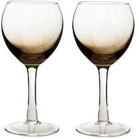 Product photograph showing Denby Halo Praline White Wine Glasses - Set Of 2