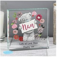 Product photograph showing The Personalised Memento Company Personalised Me To You Nan Crystal Token