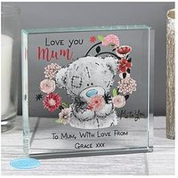 Product photograph showing The Personalised Memento Company Personalised Me To You Mum Large Crystal Token