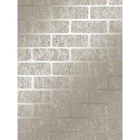 Product photograph showing Superfresco Milan Brick Wallpaper Ndash Taupe