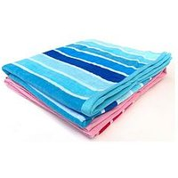 image-Downland Stripe Beach Towel Pair