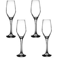 Product photograph showing Ravenhead Majestic Set Of 4 Flute Glasses