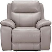 Product photograph showing Colby Real Leather Faux Leather Power Recliner Armchair