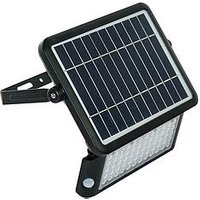 Product photograph showing Luceco Solar Guardian Pir Floodlight Ip65 10w 1080lm 4000k - Black