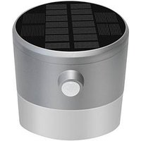 Product photograph showing Luceco Solar Guardian Pir Wall Lantern Ip44 200lm 2w 4000k - Grey
