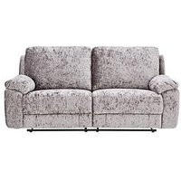 Product photograph showing Castille Fabric 3 Seater Manual Recliner Sofa