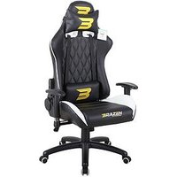 Product photograph showing Brazen Phantom Elite Pc Racing Gaming Chair - Black And White