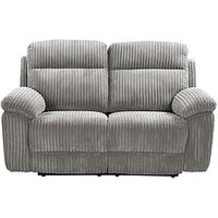 Product photograph showing Baron Fabric 2 Seater Manual Recliner Sofa