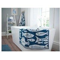 Product photograph showing Deyongs Fish Coastal Jacquard 100 Cotton Bath Towel
