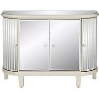 Product photograph showing Venetian 4 Door Curved Glass Sideboard