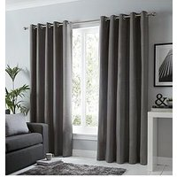 Product photograph showing Fusion Sorbonne Lined Eyelet Curtains
