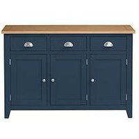 Product photograph showing Julian Bowen Richmond Large Sideboard- Midnight Blue