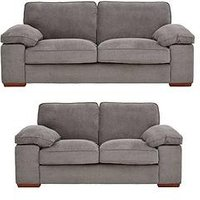 Product photograph showing Blakely Fabric 3 Seater 2 Seater Sofa Set Buy And Save