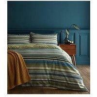 Product photograph showing Catherine Lansfield Ravenna Stripe Duvet Cover Set