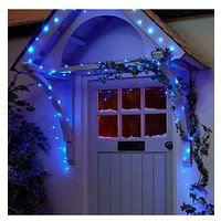 Product photograph showing 100 Led Digital Dewdrop Rainbow Indoor Outdoor Christmas Lights