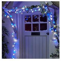 Product photograph showing 100 Blue And White Led Indoor Outdoor Christmas Star Lights