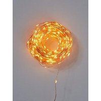 Product photograph showing 400 Multifunction Amber Dewdrop Indoor Outdoor Christmas Lights