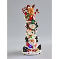 Product photograph showing Jolly Santa And Friends Light Up Ornament
