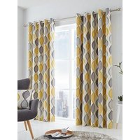 Product photograph showing Fusion Lennox Lined Eyelet Curtains