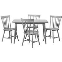 Product photograph showing Julian Bowen Torino 120 Cm Dining Table 4 Chairs - Grey